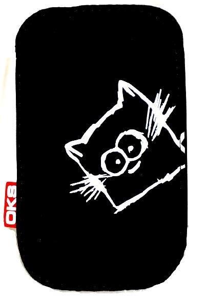 Blanket koshka p46 chernii Чехлы для мобильных телефонов