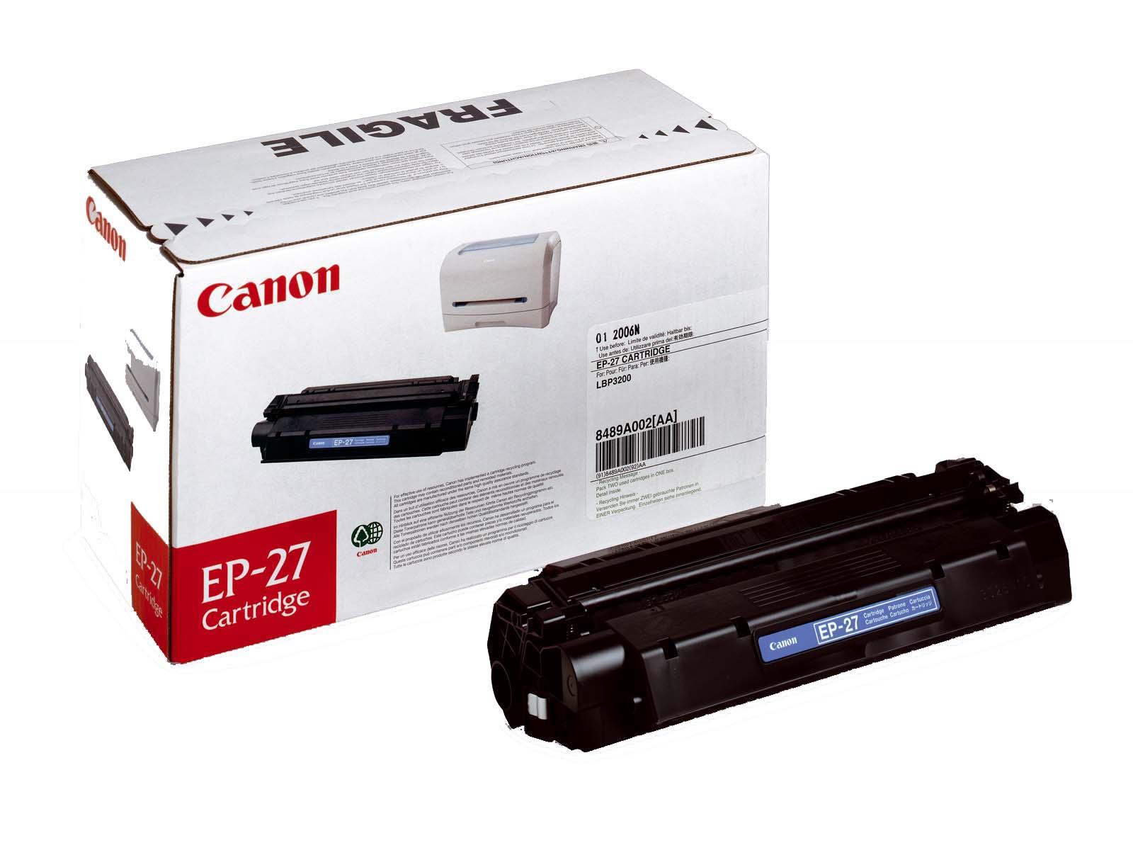 Cаnon EP 27 Расходные материалы для принтеров