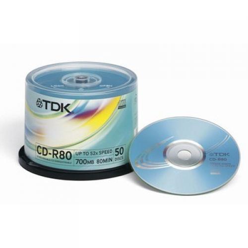 CD R TDK 50шт. Диски