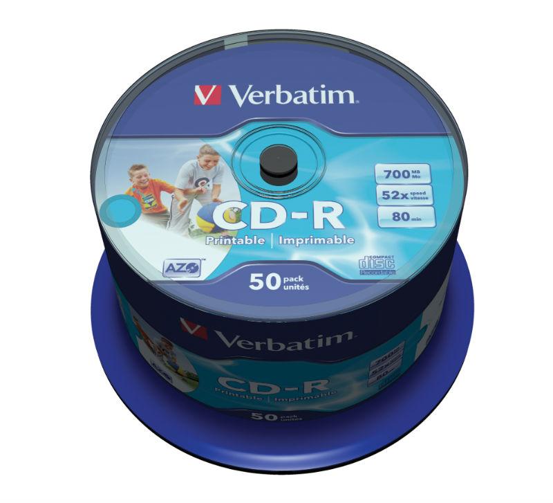 CD R Verbatim 50 шт Диски