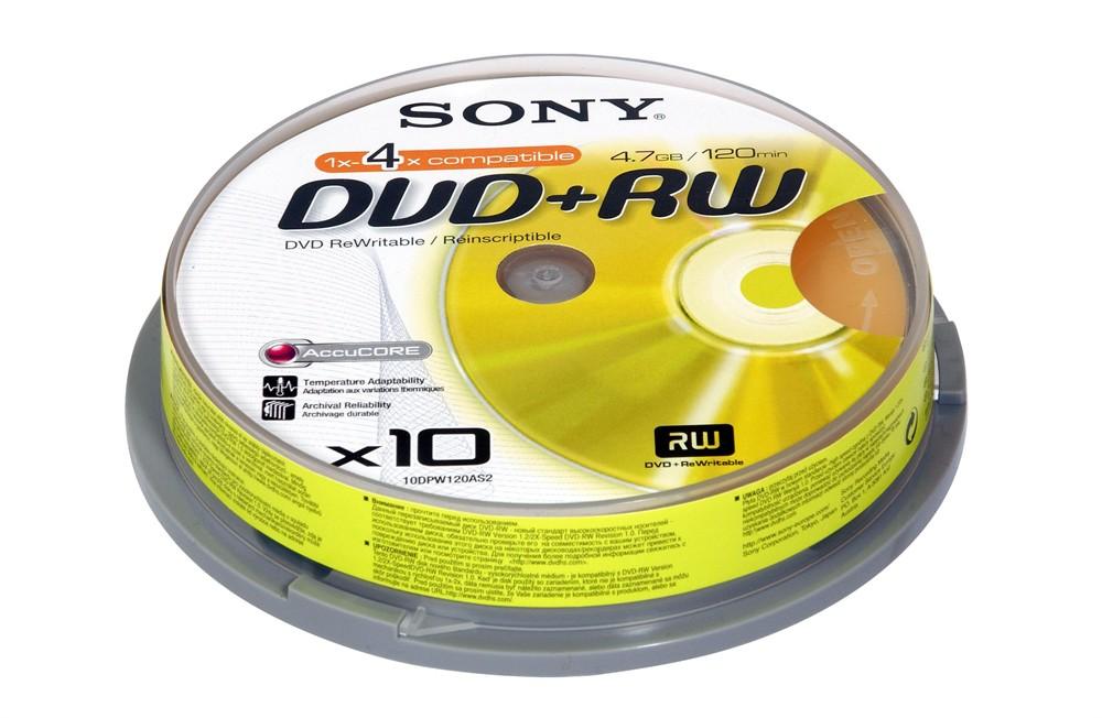 DVD+RW Sony 10шт Диски