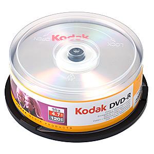 DVD R Kodak 16x 10 шт Диски