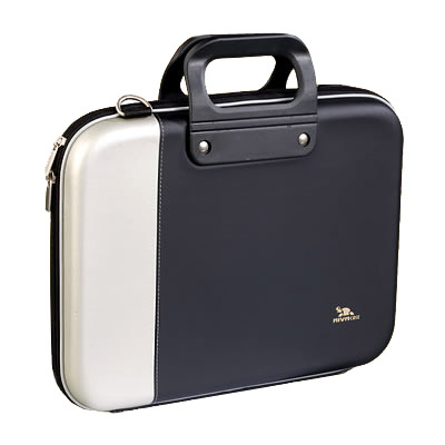 Riva 7021L 01 PU NoteBook Case 2 tone silver black Сумки для ноутбуков Riva case