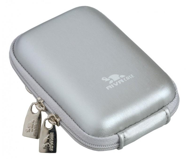 Riva 7022 PU Digital Case silver Сумки и чехлы для фотоаппаратов Riva Case