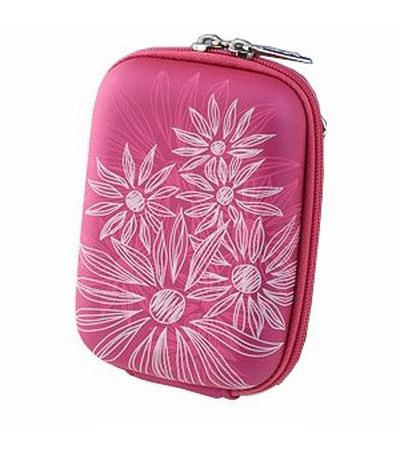 Riva 7023 PU Digital Case crimson pink flowers Сумки и чехлы для фотоаппаратов Riva Case