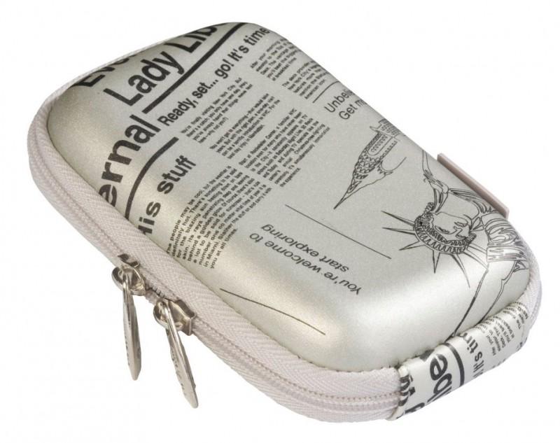 Riva 7023 PU Digital Case silver newspaper Сумки и чехлы для фотоаппаратов Riva Case