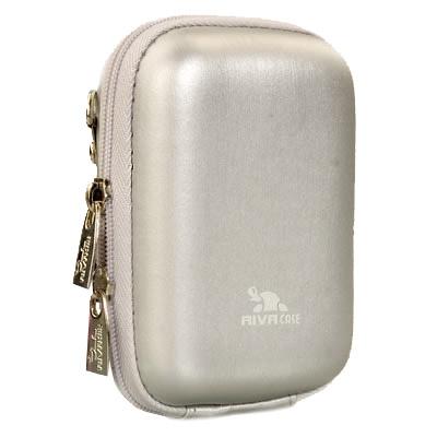 Riva 7023 PU Digital Case silver Сумки и чехлы для фотоаппаратов Riva Case