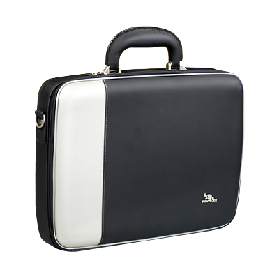 Riva 7095 01 PU NoteBook 15 Case 2 tone silver black Сумки для ноутбуков Riva case
