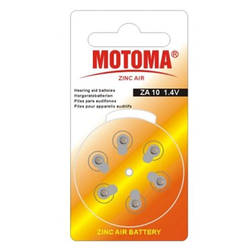 Мотома ZA 10 6B 2570 1.4V 6 шт на блист.цена за блистер. Батареки, Зарядные устройста MOTOMA