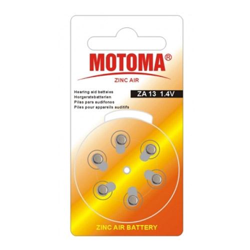 Мотома ZA 13 6B 2573 1.4V 6 шт на блист.цена за блистер. Батареки, Зарядные устройста MOTOMA
