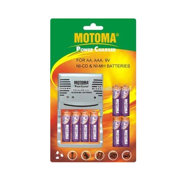 2080 B Motoma заряд. 2080 B в комп. 4бат Батареки, Зарядные устройста MOTOMA