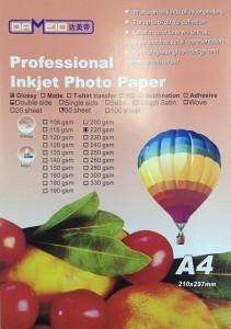 А4 для прин. 220 гр.Dameid 50л. gloss.двух. 211x300 Фотобумага (формата А3, А4, А5, А6)
