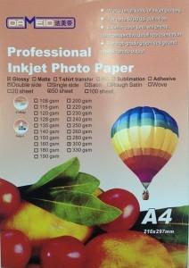 А4 для прин. 300 гр.Dameid 50л. глян двухс. 212x300 Фотобумага (формата А3, А4, А5, А6)