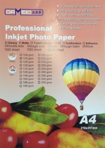 A4 для прин. 115 гр.Dameid 100л глян.одн. 213x300 Фотобумага (формата А3, А4, А5, А6)