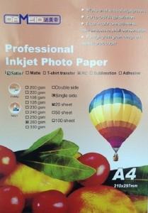 A4 для прин. 260 гр. RC Dameid 20л. глян.одн. 209x300 Фотобумага (формата А3, А4, А5, А6)