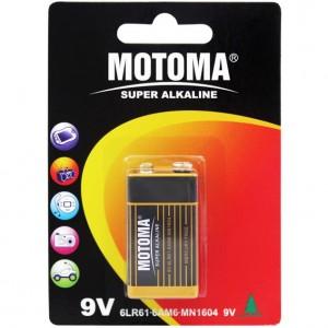 Motoma LR 9V 1B Alkalain 12шт 300x300 Батареки, Зарядные устройста MOTOMA